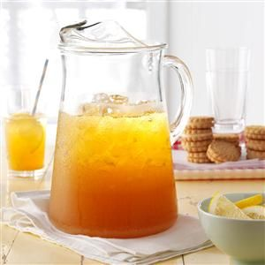 Lemonade Iced Tea Recipe -I have always loved iced tea with lemon and this great thirst-quencher just takes it one step further. The lemonade gives this refreshing drink a nice color, too. —Gail Buss, Beverly Hills, Florida