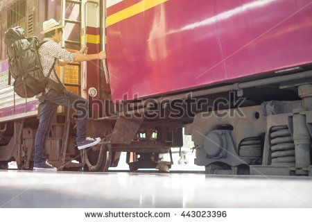 Young Train Station, With The Evening Sun. Stock Photo 443023396 : Shutterstock