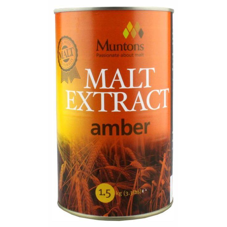 Muntons Extra Amber Plain Malt Extract 1.5 kg  Produs de ce mai buna calitate. S-a folosit cel mai bun orz din zona fabricii Muntons in Cedars Maltings, Stowmarket. Cele mai proaspete ingrediente.  Substanta solida: 80-82% Culoare EBC: 12-20