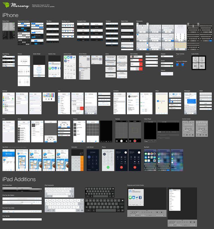Free iOS 7 Illustrator Vector UI Kit for iPhone and iPad
