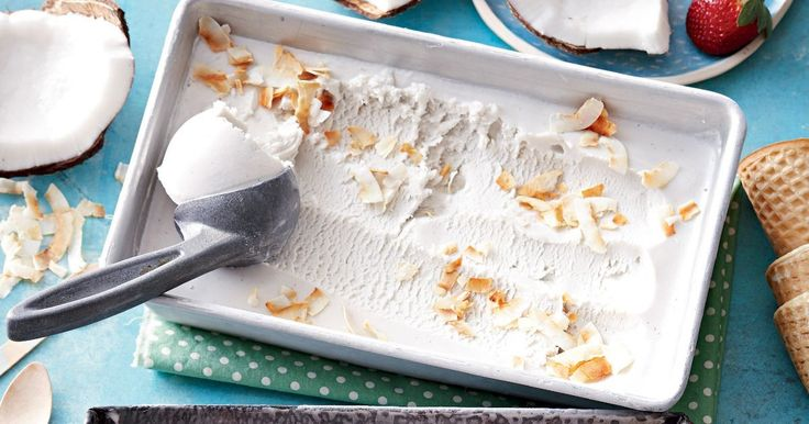 This homemade coconut ice-cream is dairy-free and you don't even need an ice-cream maker!
