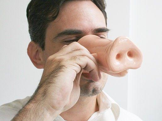 Taza con diseño de nariz de chancho - Ceramica