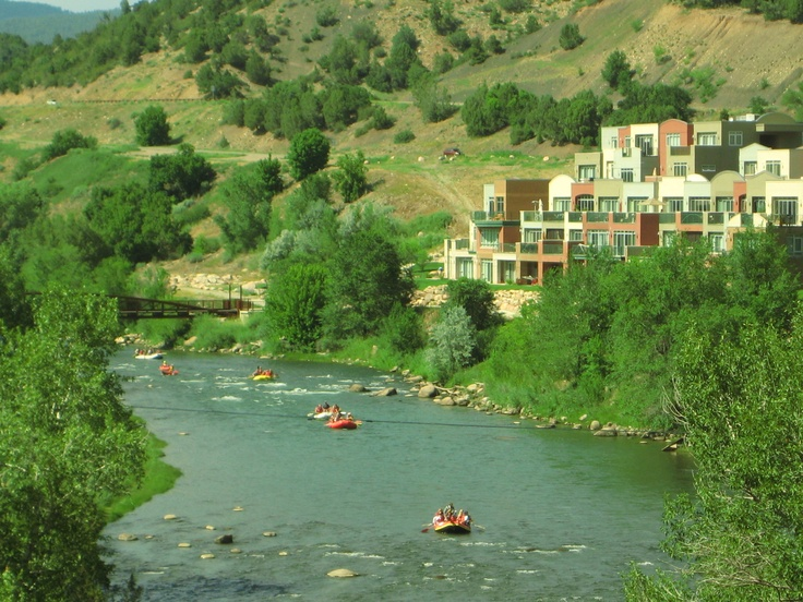 Rafting in Durango Colorado, we went right by these penthouses