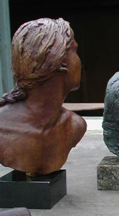 Cast bronze Busts and Heads #sculpture by #sculptor John McKenna titled: 'Rabbie Burns - Cutty Sark Nannie' #art