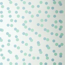 Confetti Wallpaper in Green & Blue