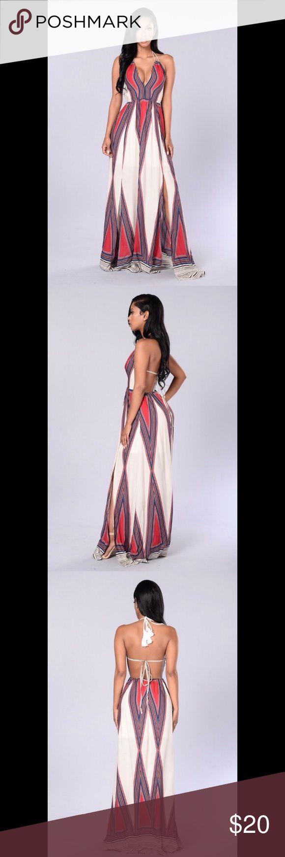 "💃Fashion Nova Spoil Me Tribal Maxi Dress Ivory💃 ""Spoil Me"" elegant maxi dress in the color Ivory, size M from Fashion Nova. Used, shows no signs of wear. Fashion Nova Dresses Maxi"