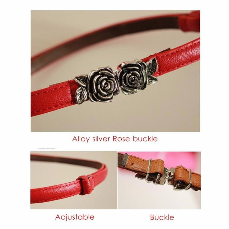 Women Ladies Roses Vintage Tie PU Leather Belt Classic Waist Sweet Dress Accessories at Banggood