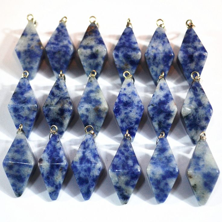 New Fashion Top Quality Natural Sodalite Stone Double Pyramid Pendants Conical Pendulum For Jewelry Making 25PCS Free Shipping #Affiliate