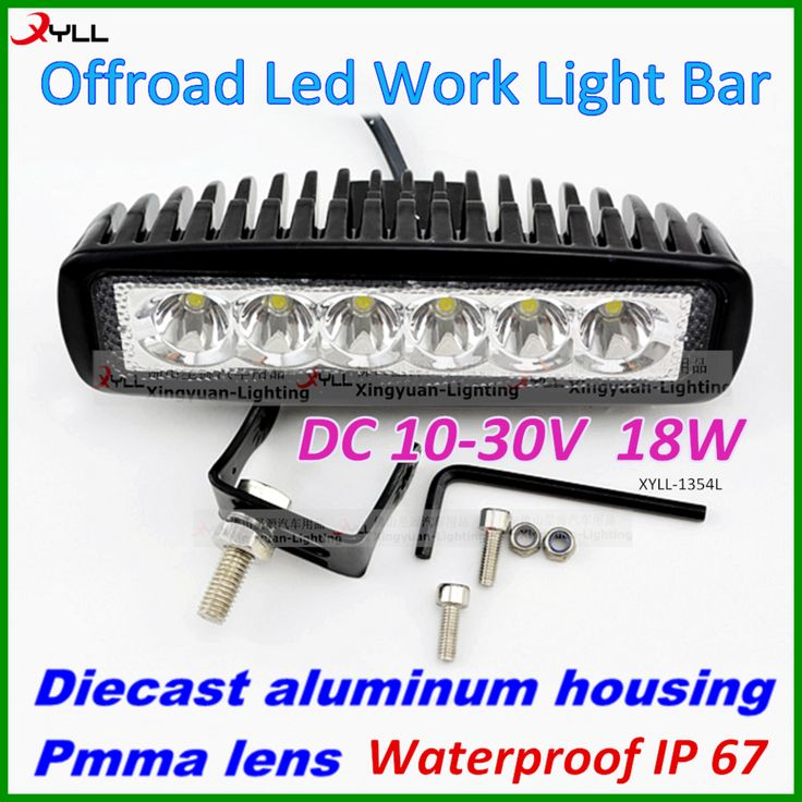 6.3 inch LED Working Light Bar For Car Motorcycle, Auto Part 18w LED Work Light