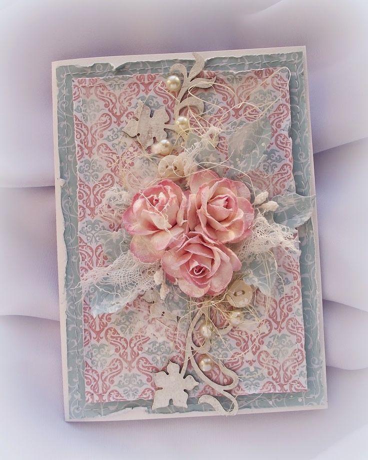 скрапбукинг открытки в розовых тонах настоящее