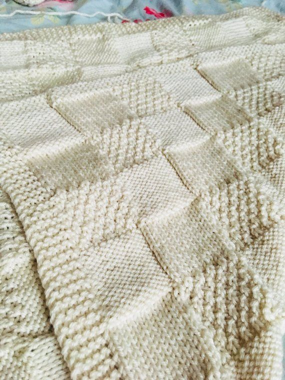 Knitting Pattern, All in One Patchwork Blanket, PDF, Instant ...