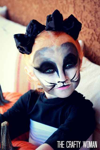 the Crafty Woman: How to Paint a Face: Black Cat