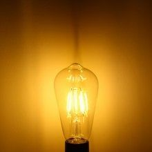YouOKLight 4W E27 COB Edison Sapphire LED Ball Bulb Teardrop Filament Retro Light ( 3000K 380Lm AC 110V )