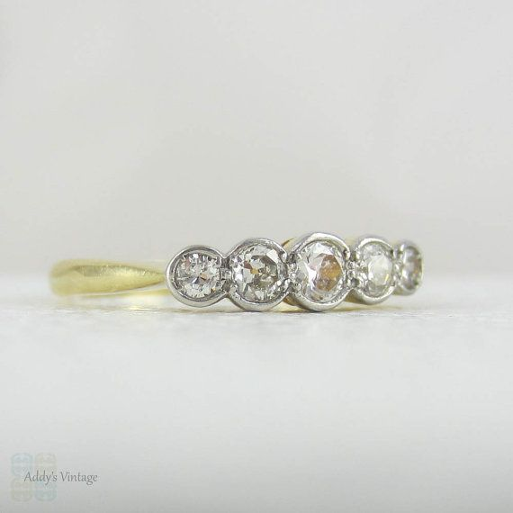 RESERVED. Antique Graduated Five Stone Diamond Ring ...