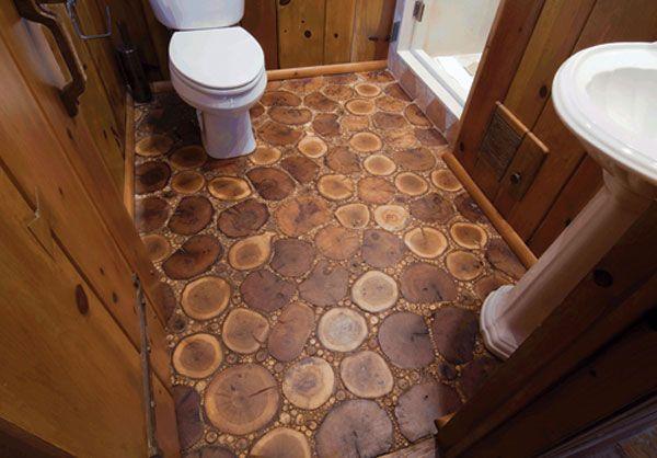 french polishing tree trunk floor