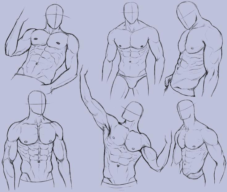 Man Anatomy Practice 2 by KingMaria.deviantart.com on @deviantART