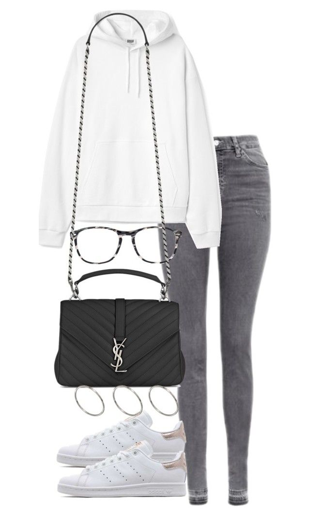"""Untitled #2948"" by theeuropeancloset on Polyvore featuring Topshop, adidas Originals, Chico's, Yves Saint Laurent and ASOS"