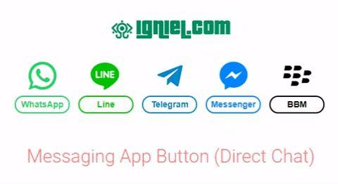 Tombol Menuju Chat Langsung Ke Berbagai Messaging App Ala Igniel