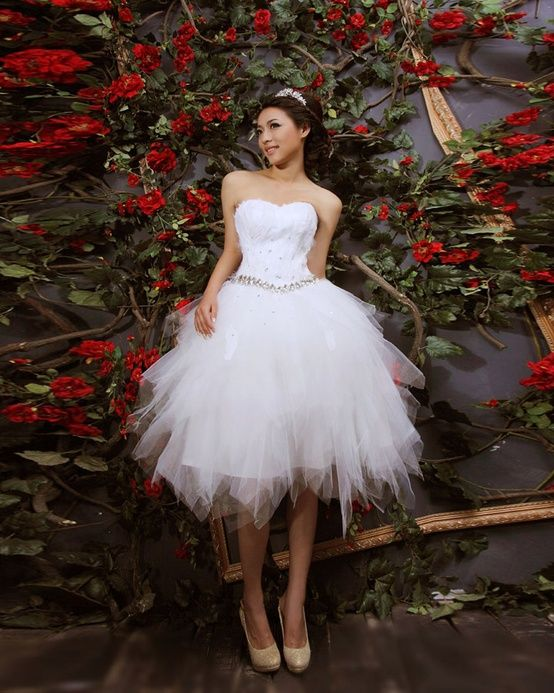 208 best the dress images on pinterest wedding dressses for Short feather wedding dress