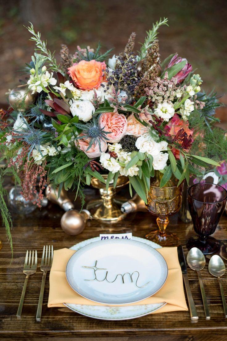 Lovely Eclectic Yellow, Plum U0026 Marsala Wedding Ideas