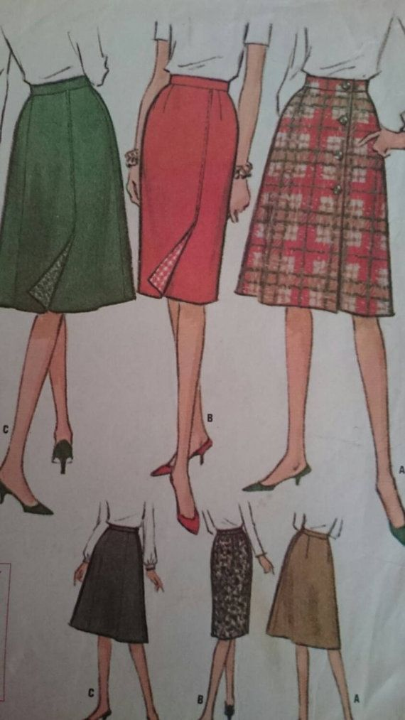 Sixties Skirt Set Pattern to fit 26 inch waist 36 inch hip