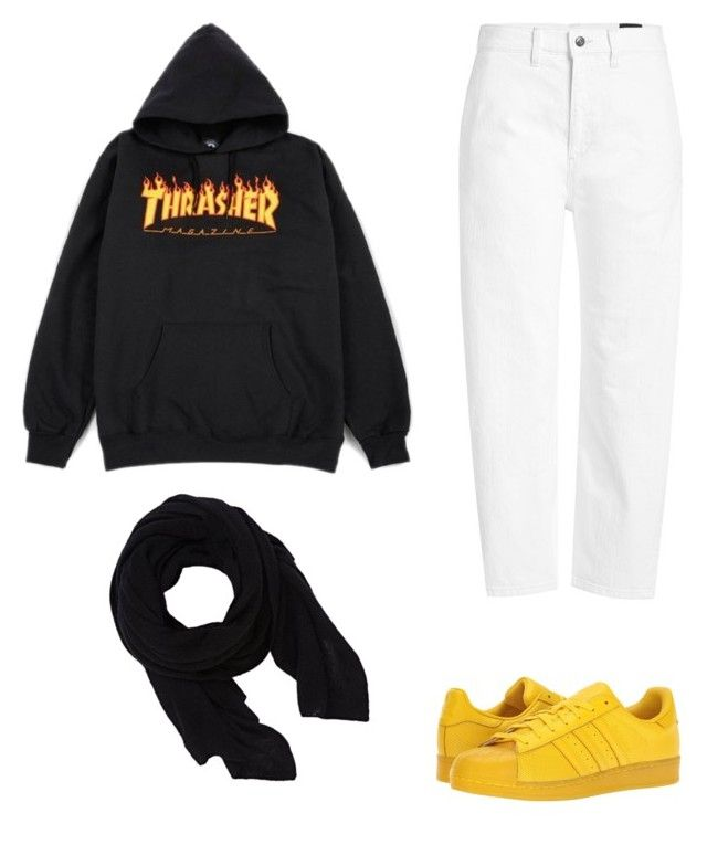 """""""Four for Fashion. #FFF07"""" by afifahafifa on Polyvore featuring Vince, adidas Originals and Barneys New York"""