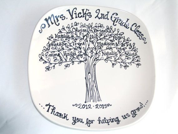 Teachers Appreciation End of School Year Graduation Class Gift Family Tree Class Tree Personalized Custom Name Plate