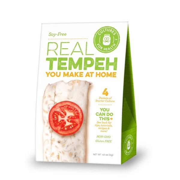 Cultures For Health Soy-Free Real Tempeh Culture Starter - 4 Packets