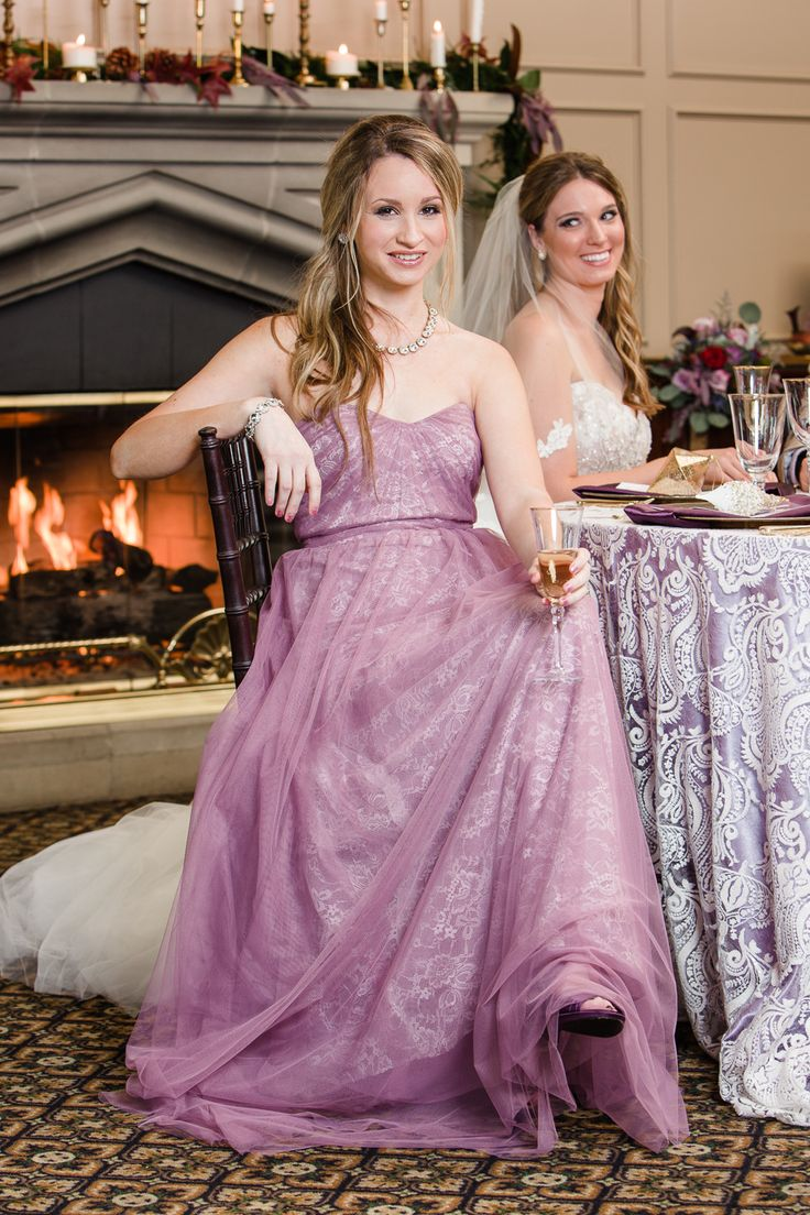 67 best luxe winter wedding styled shoot images on pinterest lace lavender bridesmaid dress ombrellifo Images