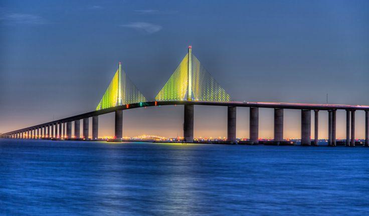 Drive over Tampa Bay on the beautiful Sunshine Skyway Bridge.  #welovetoexplore