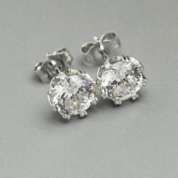 Qvc Tacori Epiphany Diamonique 2 35ct Earrings Earrings Stud Earrings Jewelry