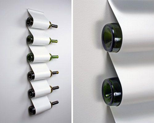 Rack à vin métalique