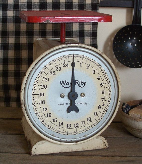Antique Blue And White Kitchen Balance Scales