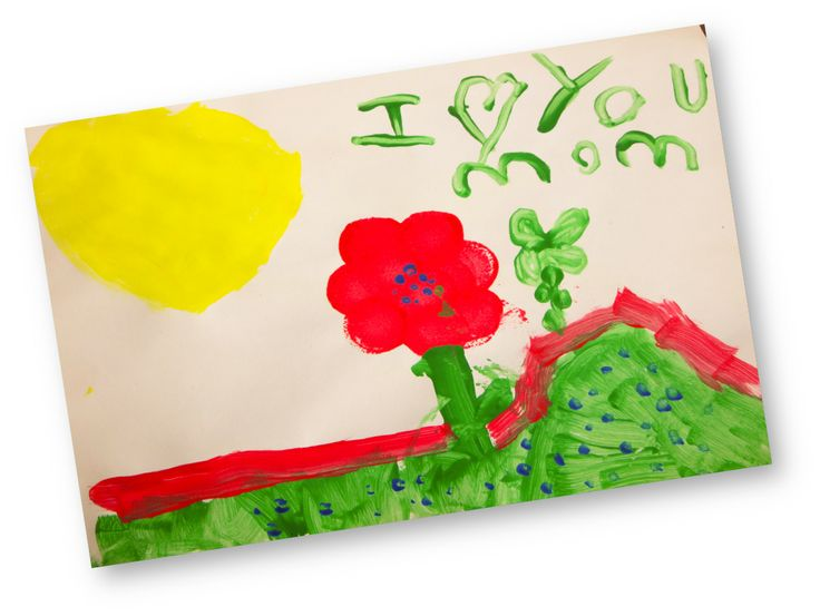 """I love you mom""  Inside: Blank   Mother's Day is coming and we think Rye has made the perfect card for his mom. He celebrates spring by painting this beautiful sun filled field... and his creative touch shows two flowers: a mommy and little flower growing side-by-side. Awesome job Rye!   Rye is 5 years old and from New Brunswick. He is supporting Back Bay School.   Visit: http://www.turkey-art.com/rye.html to support Rye and his children's charity choice - Back Bay Elementary School."