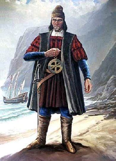 Dit is Bartholomeus Diaz, doordat er veel HANDELSPOSTEN werden gesticht langs de kustlijn en het gebied daardoor steeds vaker en beter in kaart werd gebracht ontdekte hij kaap de goede hoop dat ligt in het meest zuidelijke puntje van Afrika . Hij leefde van ongeveer 1450 tot 1500 en zijn afkomst is onbekend