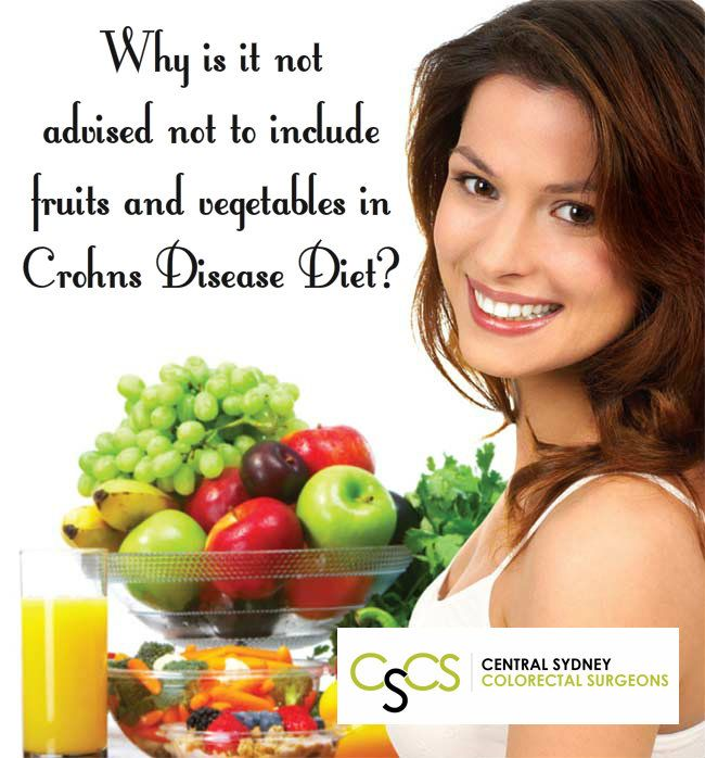 #WellnessWednesday Why is it not advised not to include fruits and vegetables in #CrohnsDisease Diet http://surgeons.sydney/crohns-disease-diet/