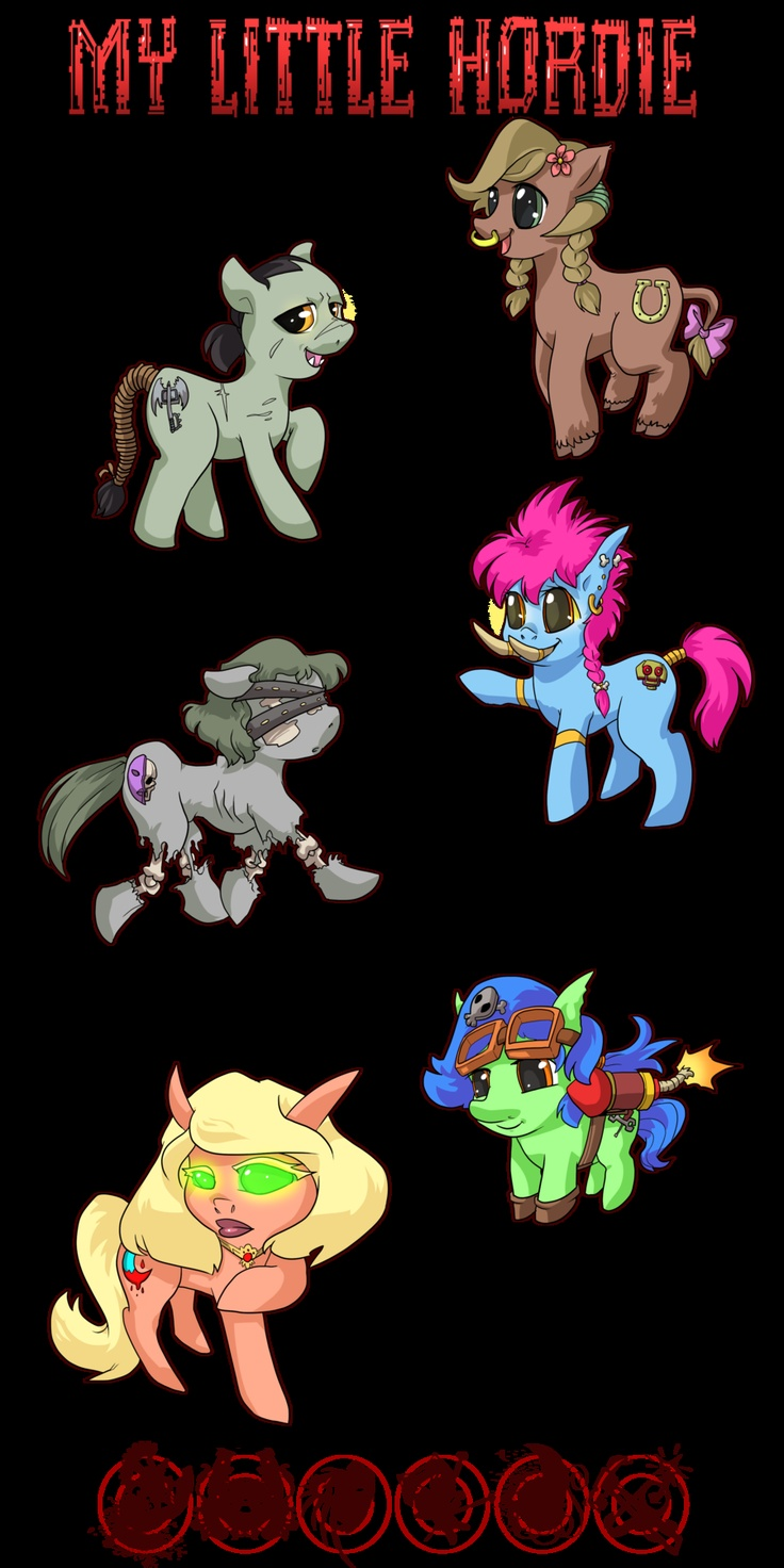 My Little Hordie by bhryn-d4jou1m. I am SUCH a nerd. MLP and WOW together.