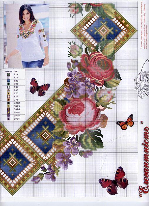 Gallery.ru / Фото #83 - схемы для вышиванок - zhivushaya