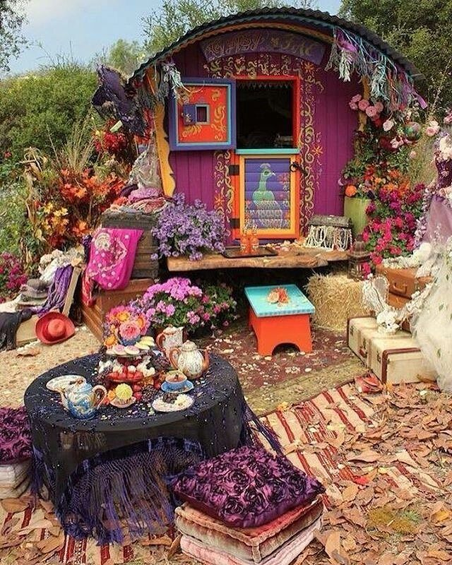 """The most beautiful little gypsy caravan I ever did see ☀ @Regrann from @soaring.soul - """"Now I've been happy lately, Thinking about the good things to come. And I believe it could be, Something good has begun."""" #hippie #boho #soaringsoul #peacetrain #Regrann #bohemianstyle #gypsy #gypsystyle #gypsyjewelry #hippie #hippiechic #hippiestyle #gypsygirl #gypsylife #goodvibes #attractyourtribe #beachstyle #wanderer #bohoinspiration #instaboho #bohochic #gypsysoul #bohemian #bohostyle #tribal"""