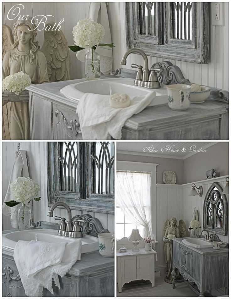 """""""Aiken House & Gardens: Our Bathroom Makeover Using Repurposed Furniture"""" #upcycled Upcycled design inspirations"""