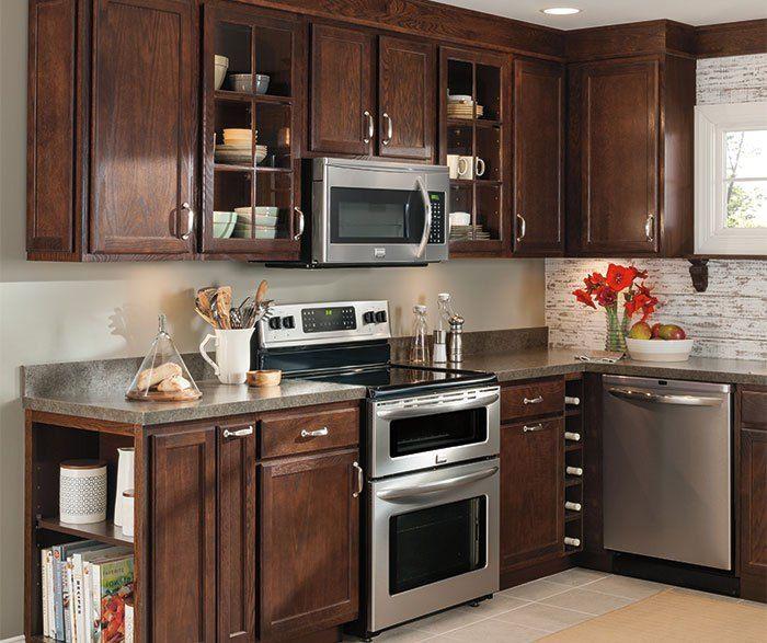 Umber cabinets oak kitchen cabinets aristokraft cabinetry for Oakland kitchen design