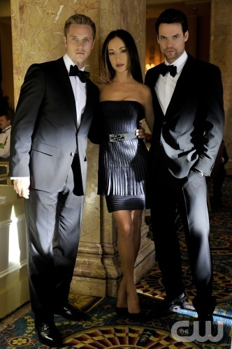 "Nikita ""Falling Ash"" Pictured (L-R): Devon Sawa as Owen,  Maggie Q as Nikita, Shane West as Michael  Photo Credit: Ben Mark Holzberg /The CW ©2011 The CW Network, LLC. All Rights Reserved"