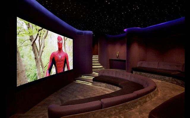 7 favorite custom home theaters electronic house home for Architecture and design home theater