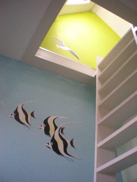 Onderwater vissen | muurschildering | kinderkamer | www.groeneballon.nl | Den Haag