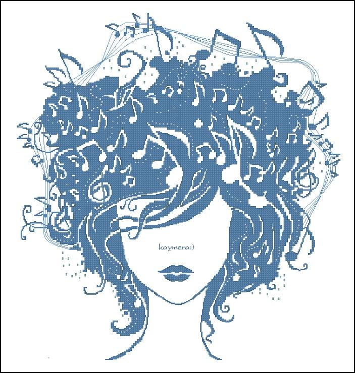 .Music in my mind - cross stitch pattern