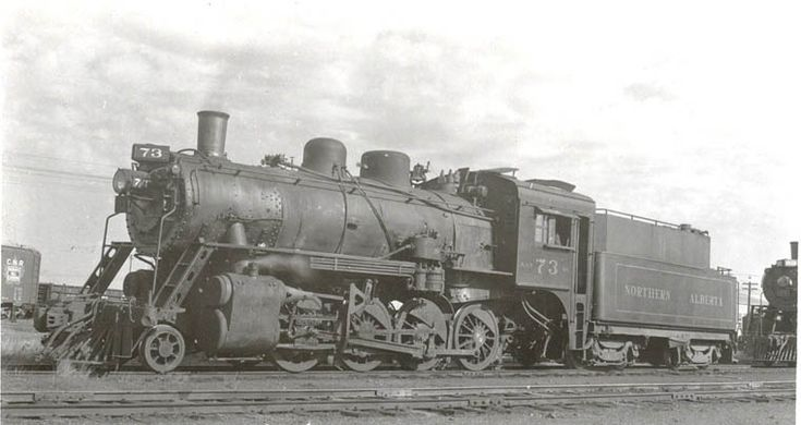 "NAR 73 (ex ED&BC 73 ) Consolidation type 2-8-0 22x28 cyl. 56""drv. 190 lbs. 39,140 t.e. CLC #1821 1927  Converetd to oil burning 8/52 3,881 gals. with 6,000 gals water. Last steam engine, retired October 28, 1960.  Back when it was just another steam engine. It was later restored for tourist operation. Bud Laws Collection"