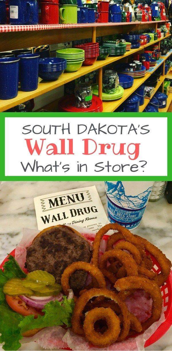 Wall Drug Store along Interstate 90 in South Dakota supplies everything a traveler forgot at home and a cafe packed with burgers and donuts.