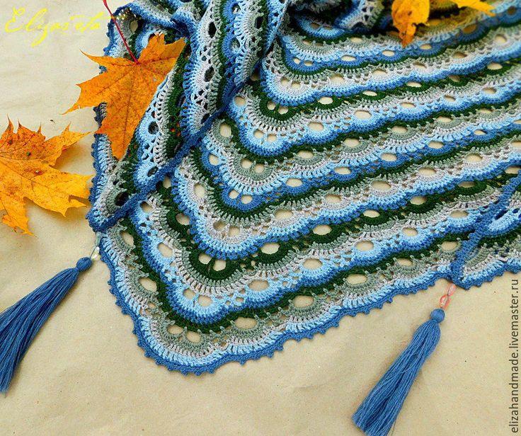 Купить Шепот ветров. Бактус цветной ажурный теплый - комбинированный, абстрактный, бактус, цветовые переходы