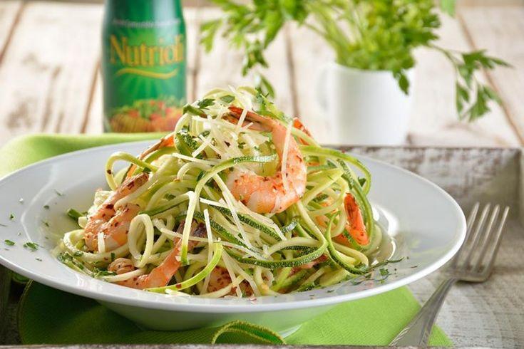 Espaguetti de calabaza y camarones | Nutrioli