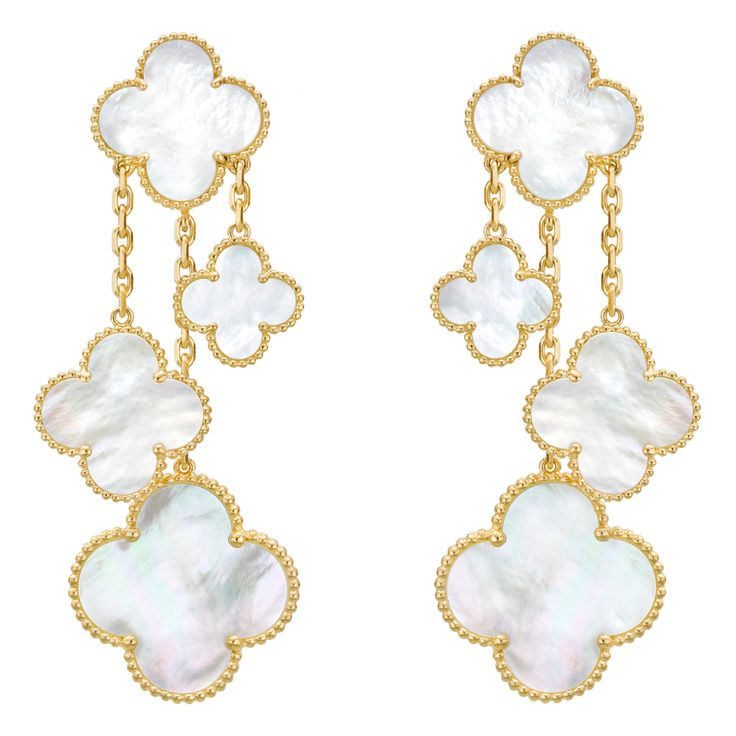 If only I had this ENTIRE collection... sigh.  Van Cleef & Arpels Magic Alhambra Earclips